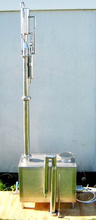 50L boilerl and fractional, reflux column